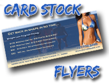 card stock flyers
