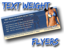 text weight flyers